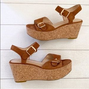Dolce Vita Cork Espadrille Wedge Heel Sandals